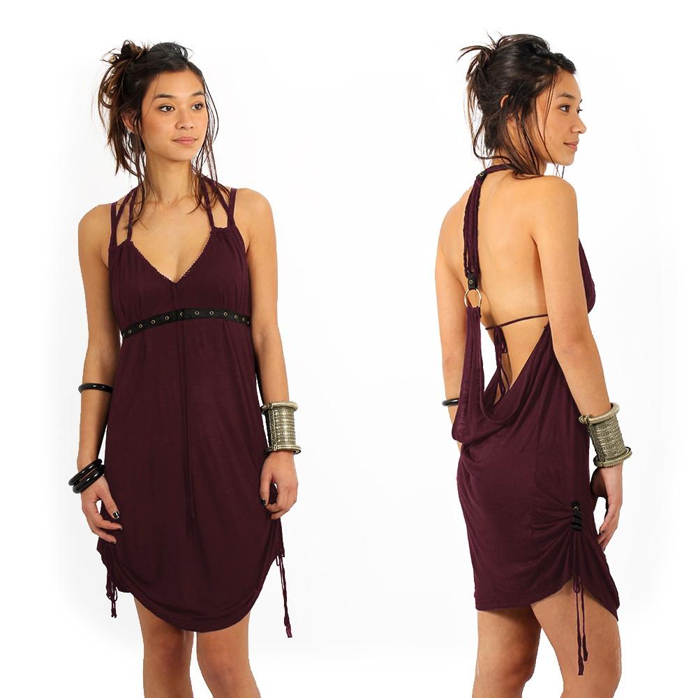 "Vestido ""Greek"", Ciruela"