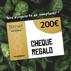 Cheque regalo de 200 €