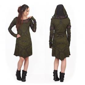 """Vestido """"Inanna Africa"""", Verde oliva"""