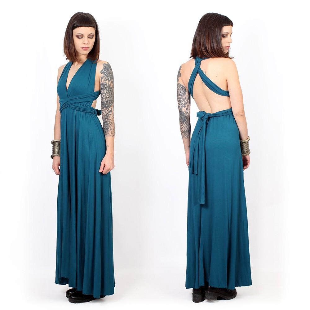 """Vestido largo infinity """"Wakiza"""", Azul"""