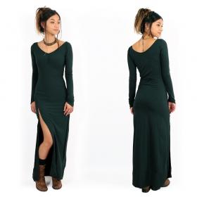 """Vestido sin trenzado """"Aryäa"""", Verde pato"""