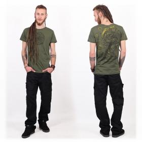 """Camiseta """"Cubina"""", Verde caqui jaspeado"""