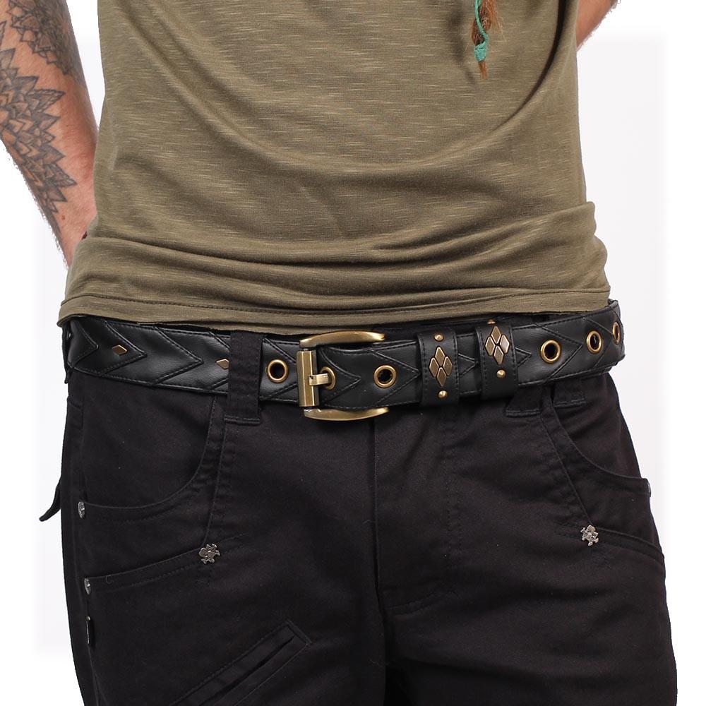 """Cintura """"Void"""", Cuero sintético negro"""
