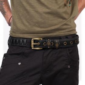 """Cintura """"Equilibrium"""", Cuero sintético negro"""
