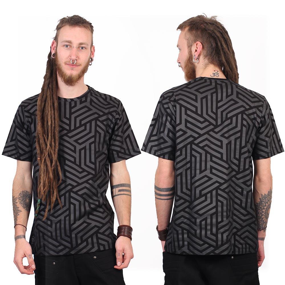 "Camiseta ""Labyrinth"", Negro"
