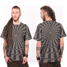 """Camiseta """"Vortex"""", Gris"""