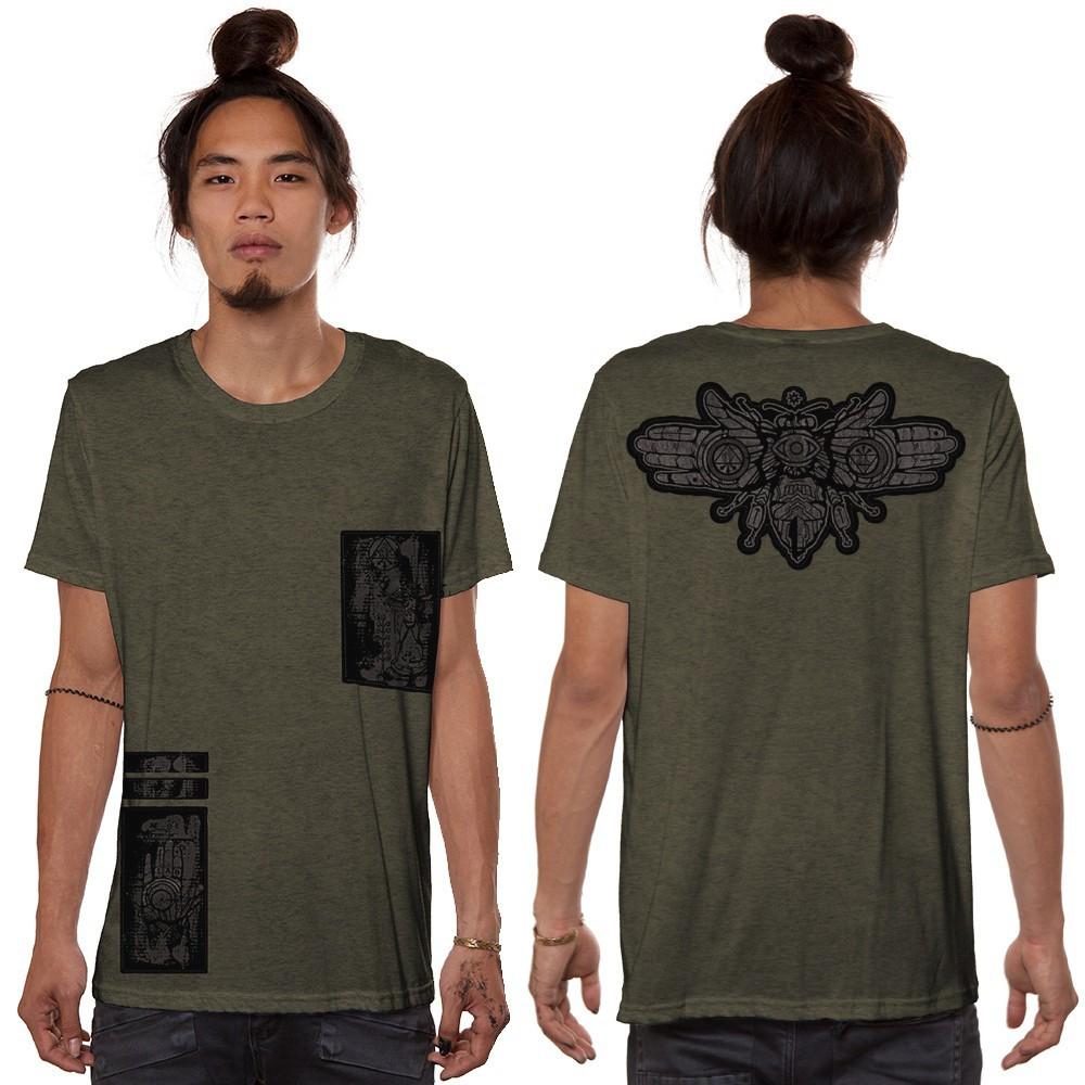 """Camiseta """"Amarth"""", Verde caqui jaspeado"""