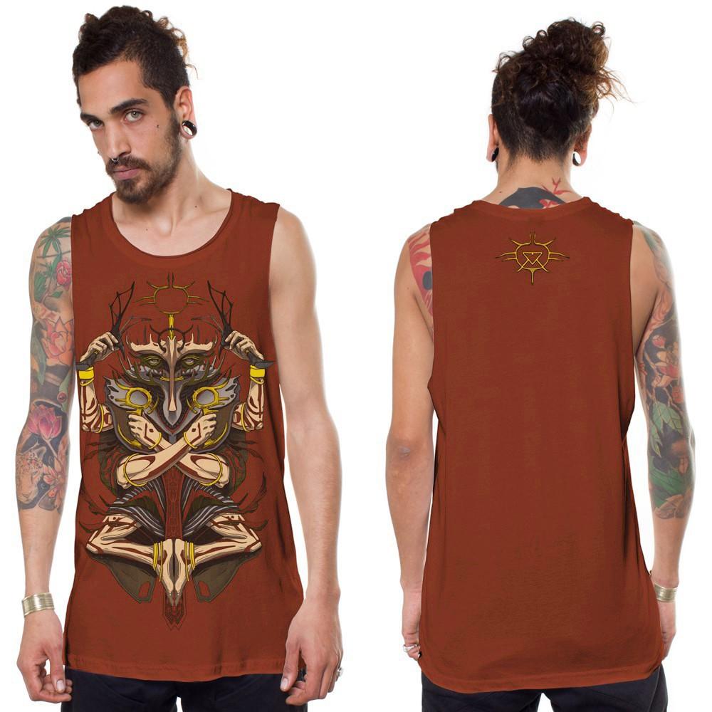 "Camiseta sin mangas ""Darian"", Marrón anaranjado"