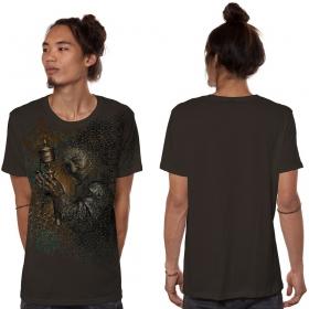 """Camiseta """"Guess What"""", Verde caqui jaspeado"""