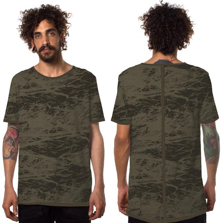 """Camiseta """"Treeping"""", Verde caqui y negro"""