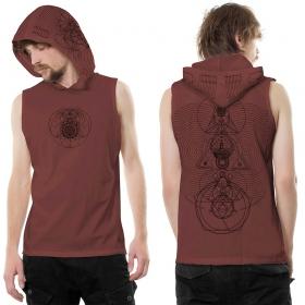 Camiseta sin mangas con capucha