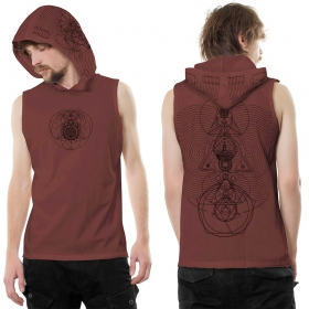 "Camiseta sin mangas con capucha ""City Zen"", Burdeos"