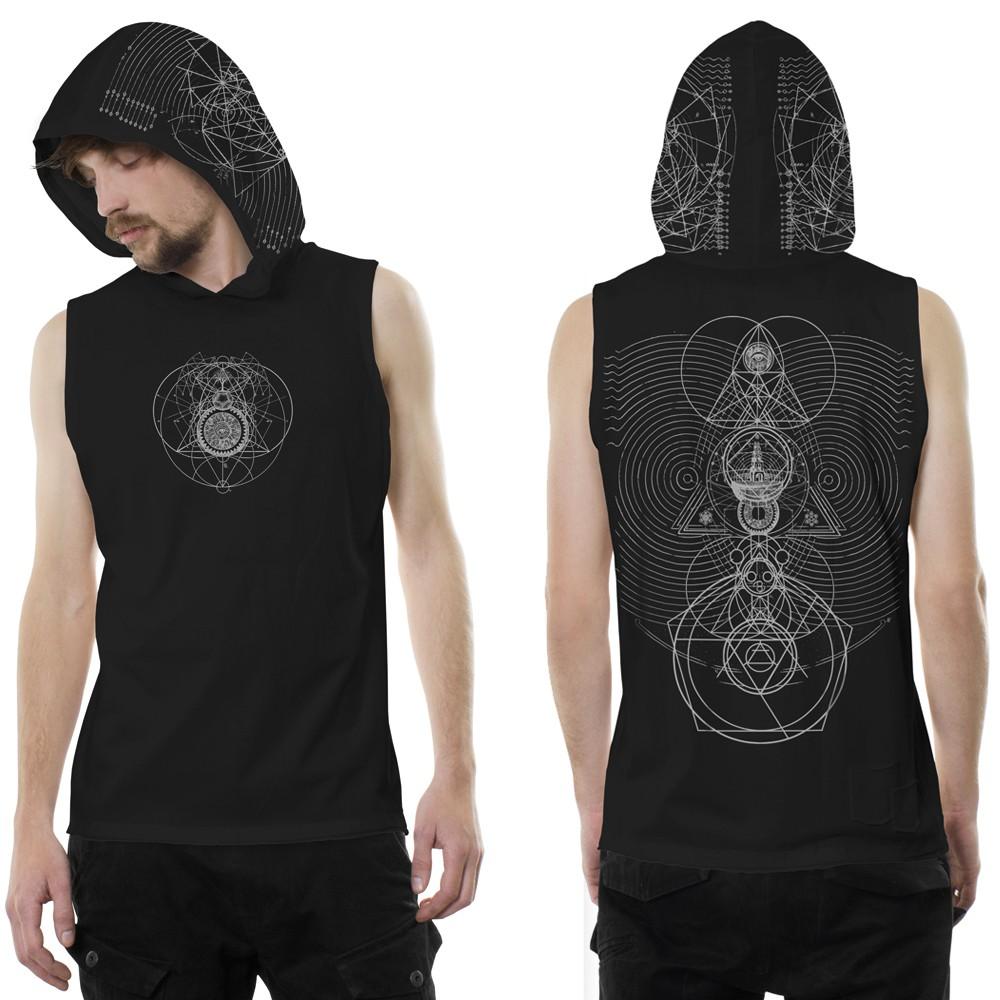 """Camiseta sin mangas con capucha """"City Zen"""", Negro"""