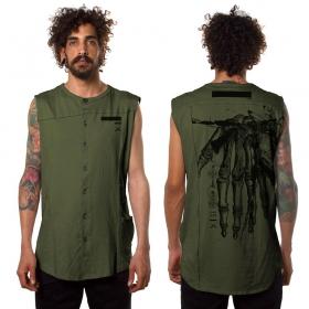 """Camiseta sin mangas """"Flint"""", Verde oliva"""