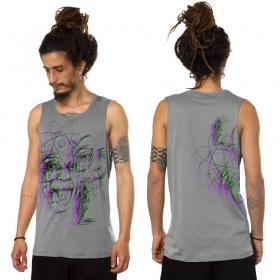 """Camiseta sin mangas """"Mr. A Glitch"""", Gris claro"""
