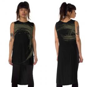 "Camiseta asimétrica ""Akasha"", Negro"