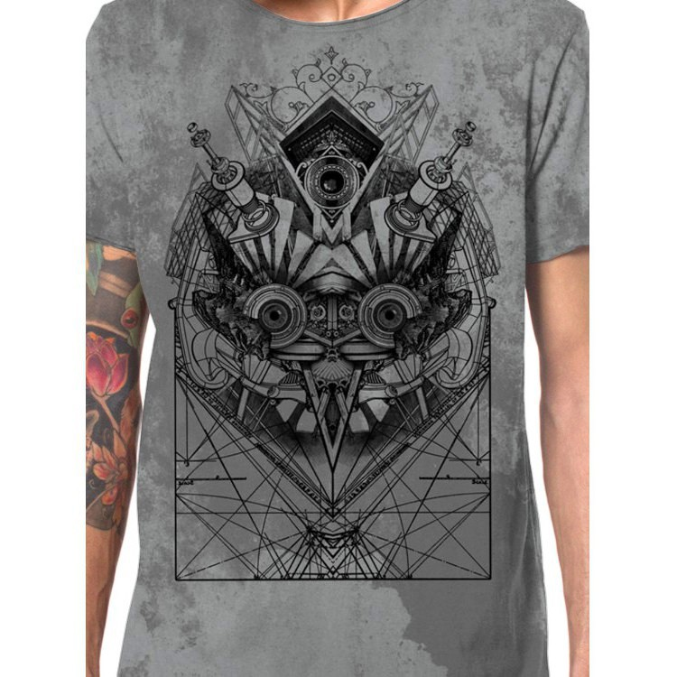 "Camiseta ""Beaker"", Gris moteado"