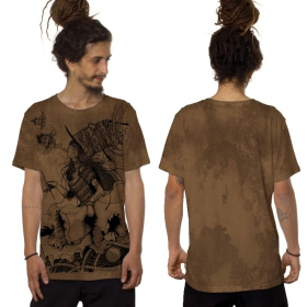 "Camiseta ""Witch"", Moka jaspeado"
