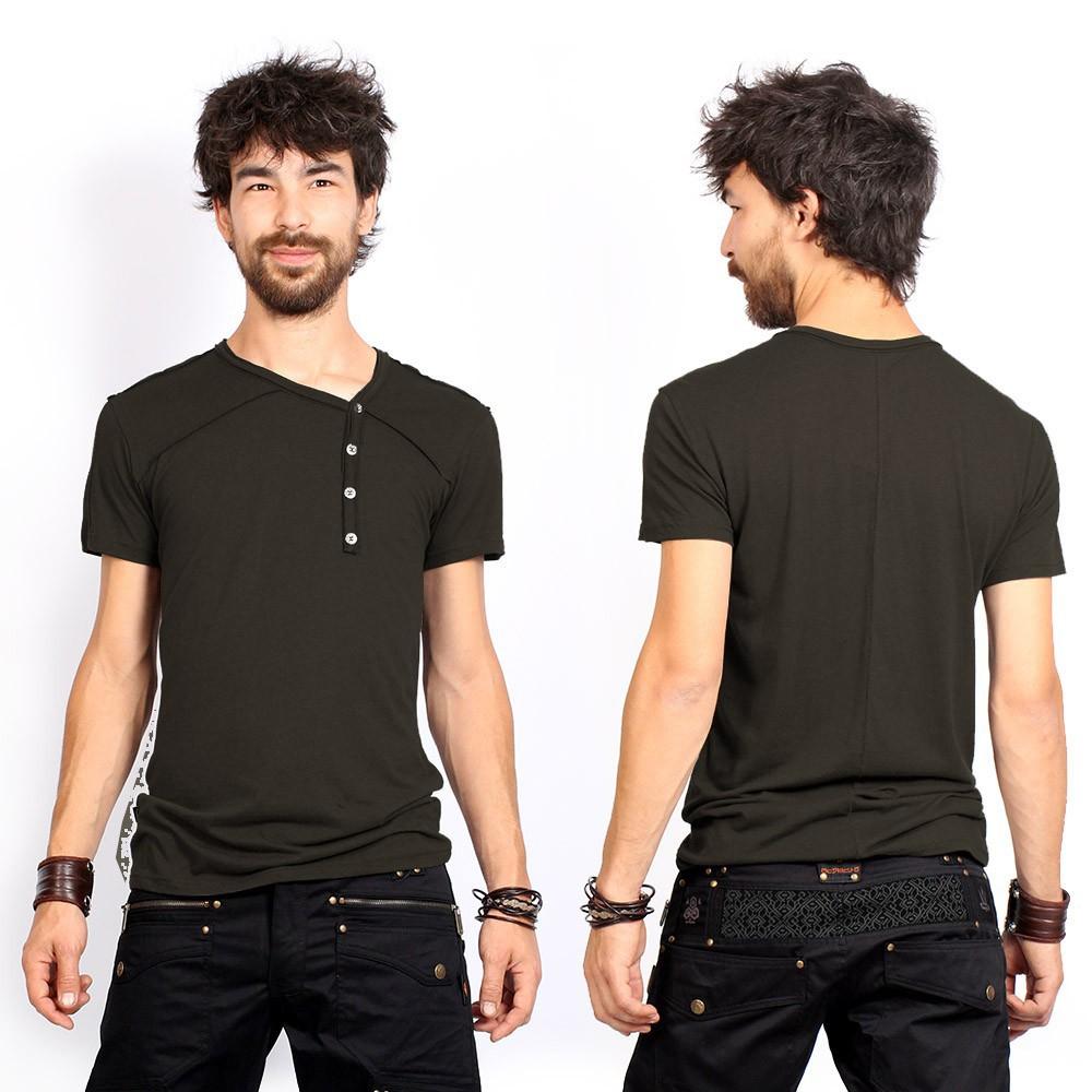 """Camiseta """"Off"""", Verde caqui oscuro"""
