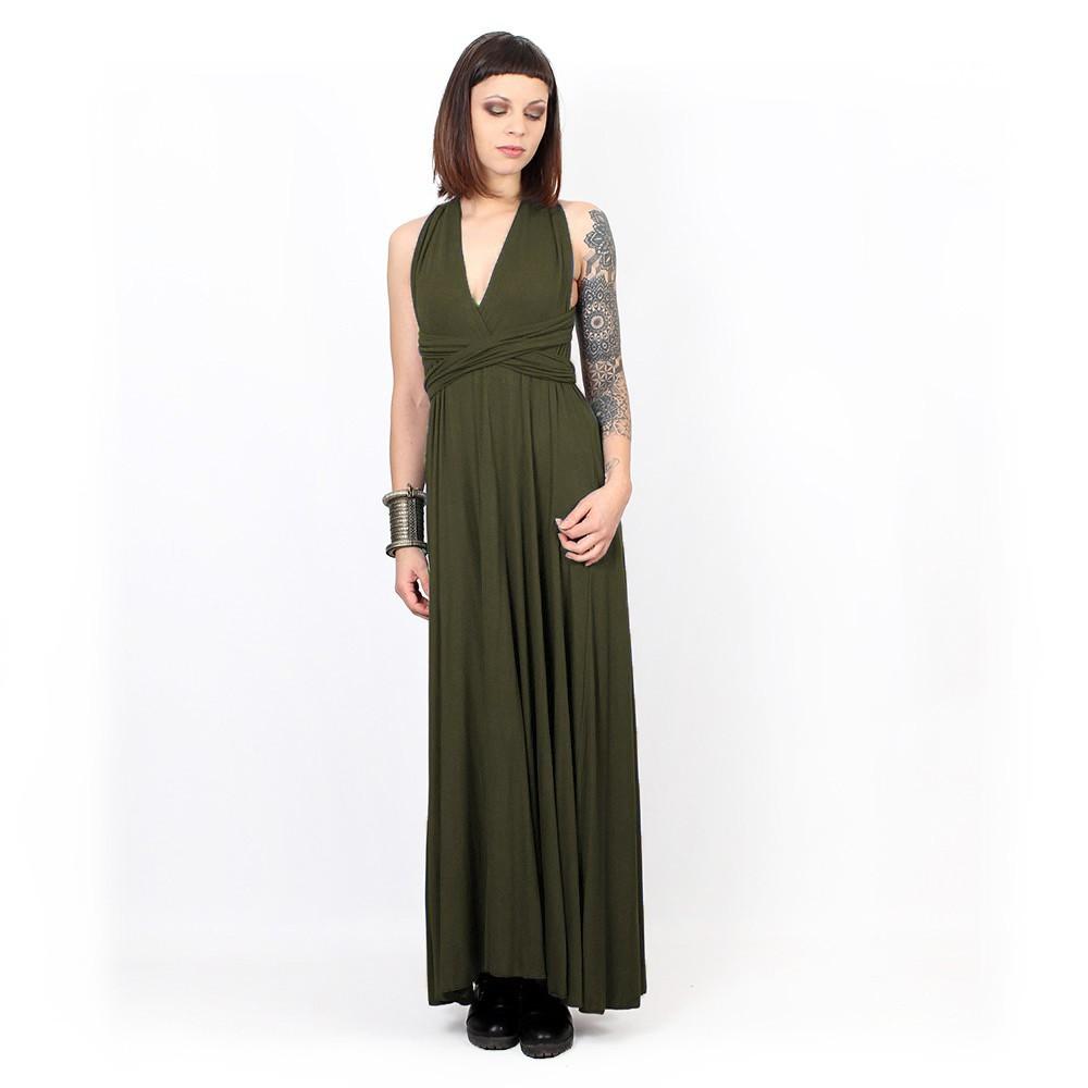 "Vestido ""Wakiza"", Verde oliva"