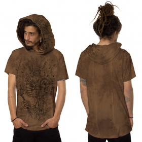 "Camiseta ""Wood Spirit"", Naranjo moteado"