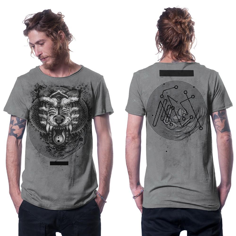 "Camiseta ""Serberus"", Gris moteado"
