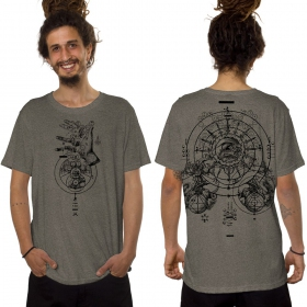 "Camiseta ""Obscure"", Beige oscuro jaspeado"