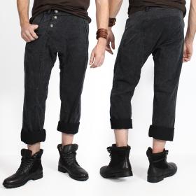 "Pantalones ""Core Herringbone"", Negro descolorido"