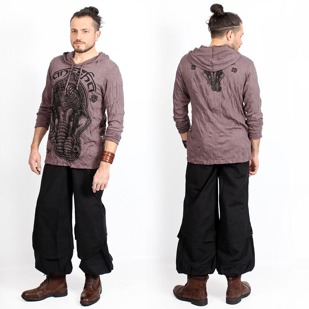 """Camiseta con capucha """"Ganesh Face"""", Taupe"""