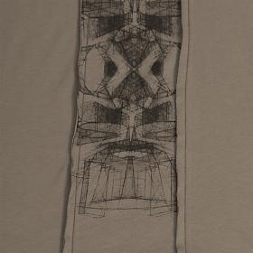 "Camiseta con capucha ""Geomeister"", Beige oscuro"