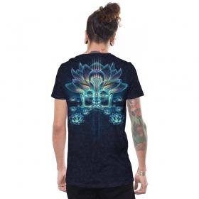 "Camiseta ""Sita Kamala"", Negro azulado descolorido"