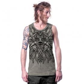 "Camiseta sin mangas ""Nightwalker"", Gris descolorido"
