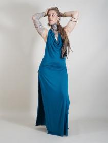 """Vestido largo """"Waheeda"""", Azul petróleo"""