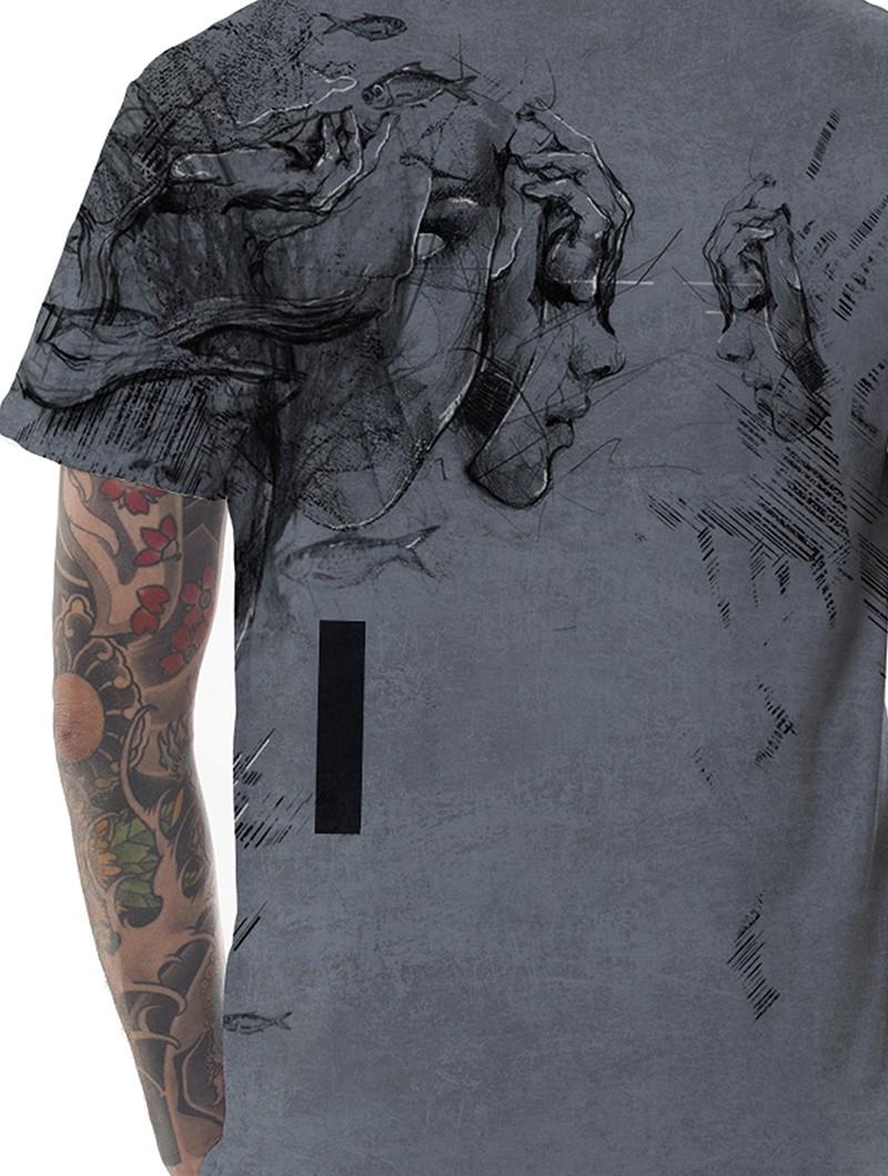 """Camiseta """"Atlantis"""", Gris descolorido"""