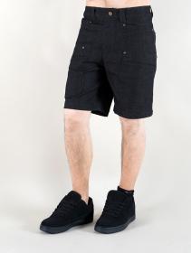 """Pantalón corto de mezclilla """"Cirdan"""", Negro"""