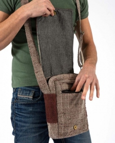 """Bolsa de hombro """"Rukum"""", Cáñamo y algodón arena"""