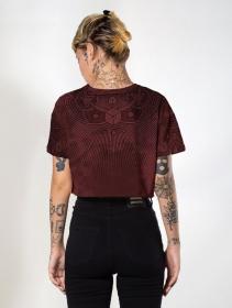 """Camiseta """"Cube"""", Burdeos"""