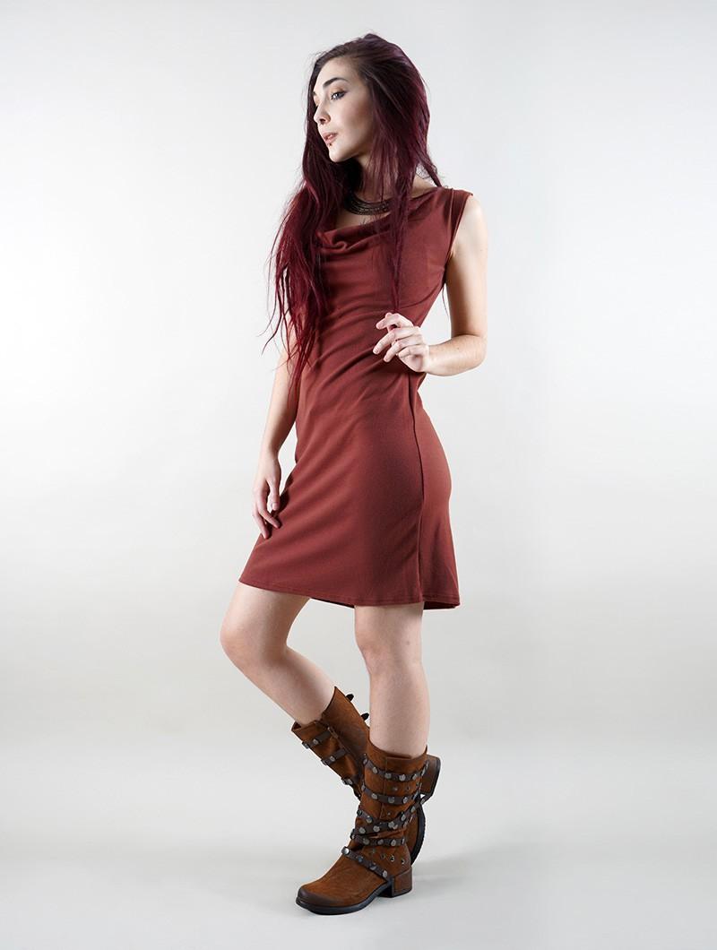 "Vestido ""May-Lï"", Caramelo"