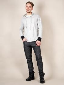 """Camiseta manga larga con capucha """"Aldaron"""", Gris claro jaspeado"""