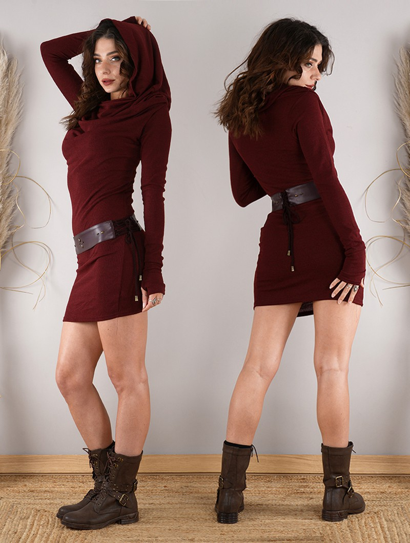 """Vestido suéter """"Kali"""", Burdeos"""