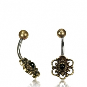 \'\'Phool Onyx\'\' belly piercing
