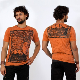 \\\'\\\'Sanskrit Buddha\\\'\\\' t-shirt, Orange