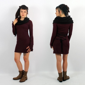\\\'\\\'Shaë-Lï\\\'\\\' bicolor dress, Wine and black