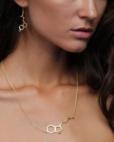 \'\'Spirit and Awakening\'\' necklace, DMT molecule