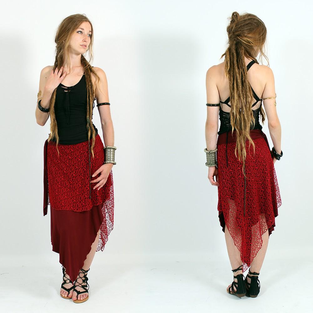 \'\'Syrada\'\' 2in1 Skirt/Tunic, Maroon