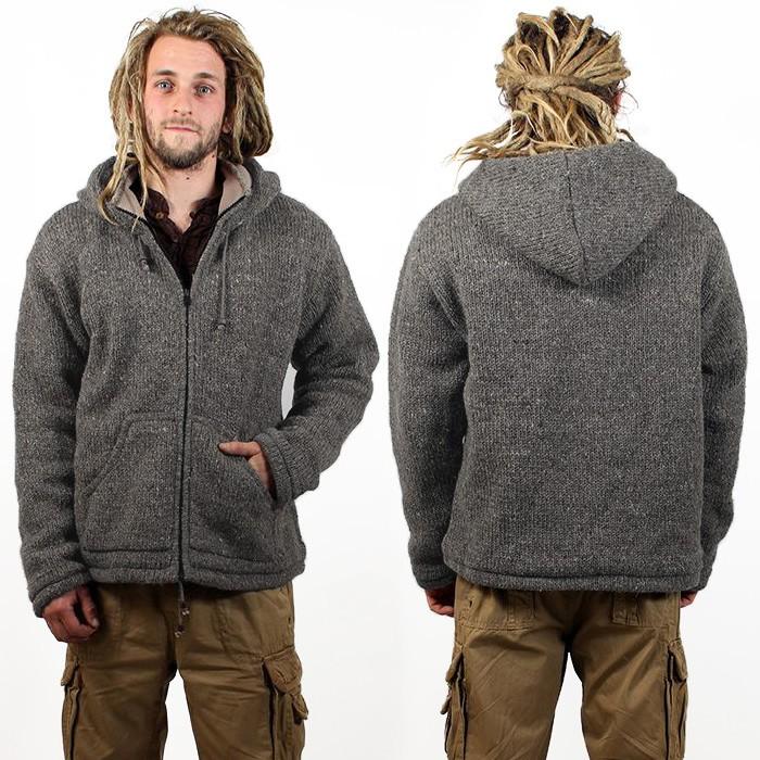 """Abrigo Macha \""""Omkar Wool and Fleece\"""", gris oscuro"""