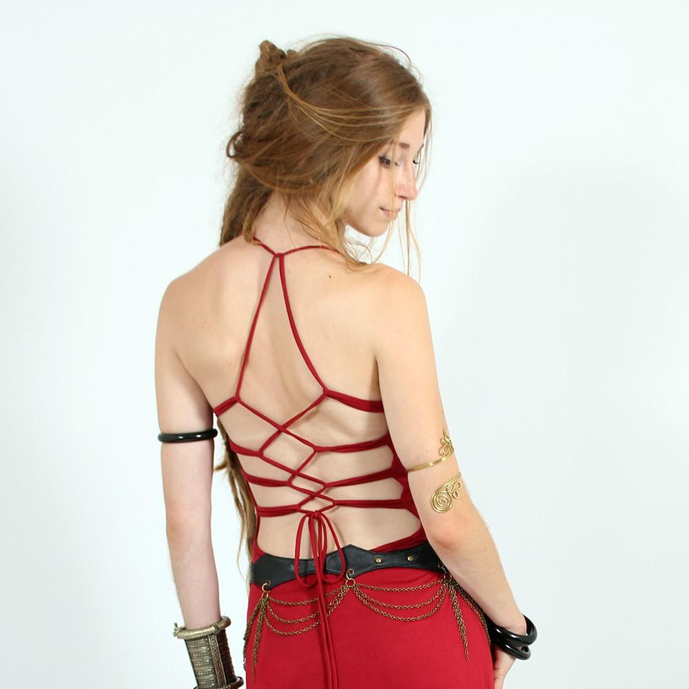 "\""Aditaya\"" dress, Red"