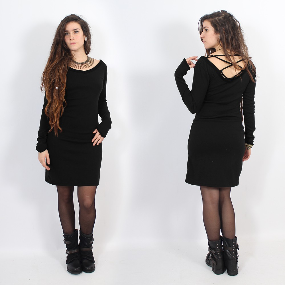 "Anaëly"" dress, Black"
