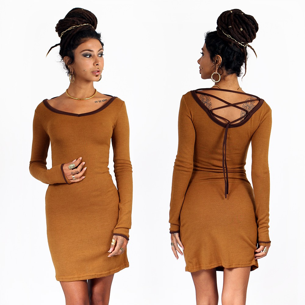 """Anaëly\"""" dress, Rusty and Brown"""