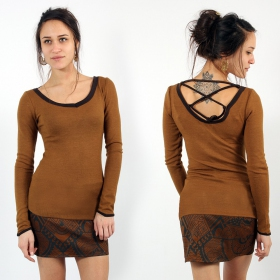 """Anaëly\"" Top Pull, Rusty and Brown"